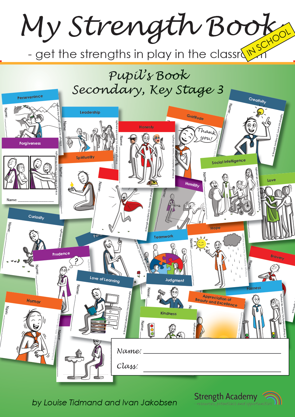 My Strength Book, get strengths in play in the classroom, KS3, workbook
